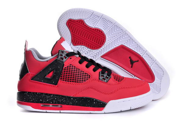 Womens Air Jordan 4 (IV) Retro Shoes Dark Red/black white